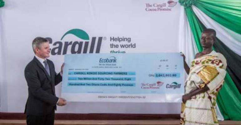 Cargill Makes It Possible For Cocoa Farmers To Receive Payments Via Mobile Phone