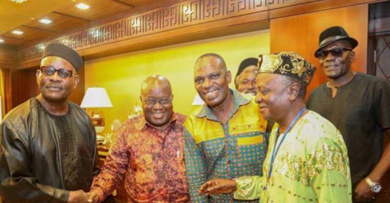 Alhaji Sidiku Buari with Nana Addo, Nana Ampadu and others
