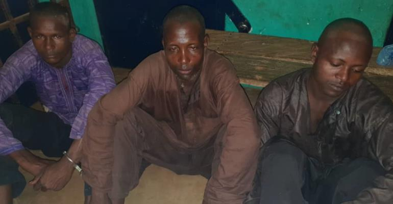 3 Suspected Armed Robbers Arrested On Tamale-Fulfulso Road