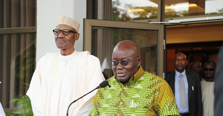 Akufo-Addo visits Nigeria to welcome Buhari from sick leave