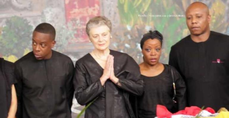 Photos: Kofi Annan's Wife, Children Pay Last Respects