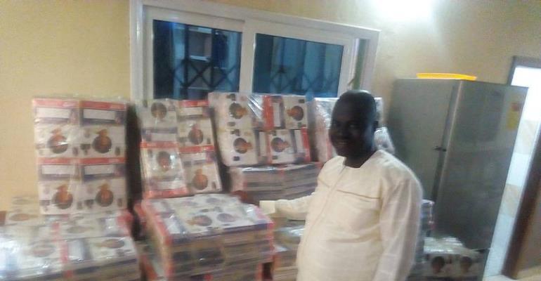 Bawumia's Servant donates over 40,000 exercise books to schools in Tano North Municipal