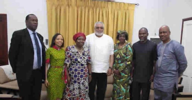 Former AU Chairperson Visits Rawlings, Nana Konadu