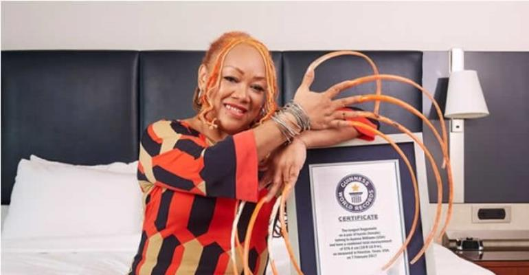 Guinness World Records 2018: Long fingernails, long eyelashes and big, big hair