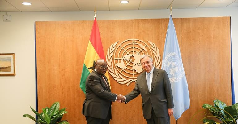 Nana Addo, UN Secretary General meet to discuss Africa's dev't