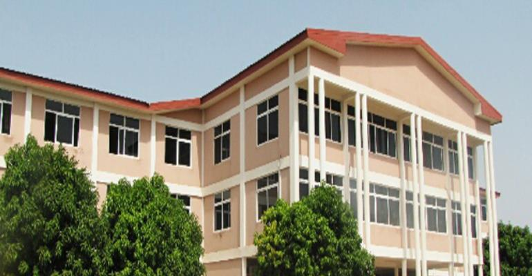 The front view of Bolga Polytechnic Academic Area