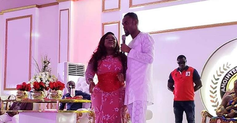 Rev Obofour's Birthday Party for Wife Sets Social Media on Fire