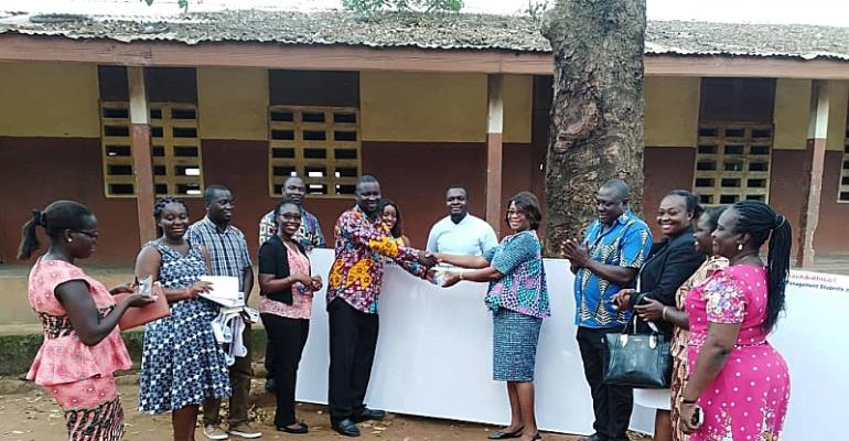 Madina Cluster of Schools  Get Teaching Tool Support From Graduate Students Of IDL, KNUST (TeachAidInco. Group)