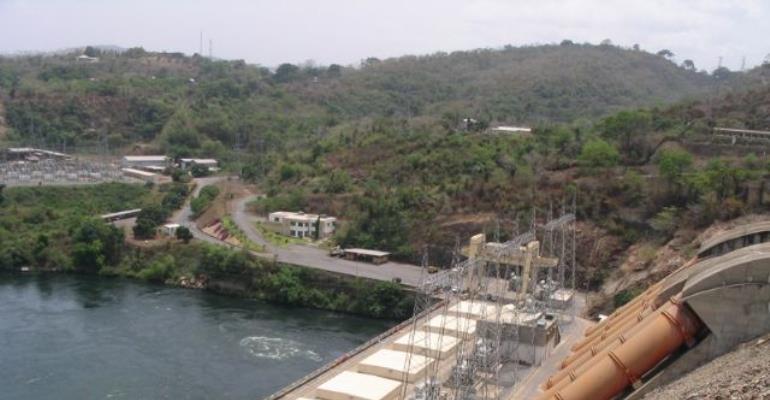 Water level in Akosombo Dam