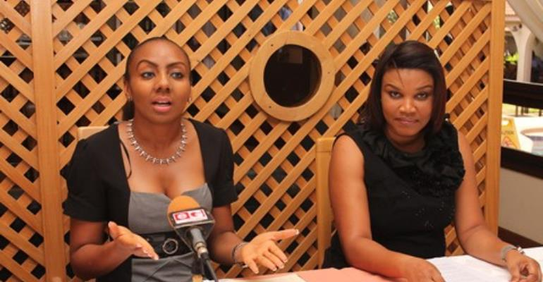Inna Mariam Patty, CEO of Exclusive Events Ghana (left) and Lauretta Aryeetey, Contestant Manager of Miss Ghana.