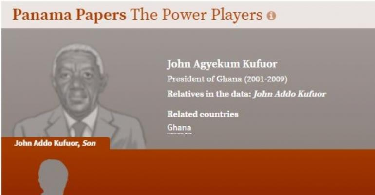 Panama papers: Names of John Addo Kufuor and Kojo Annan pops up