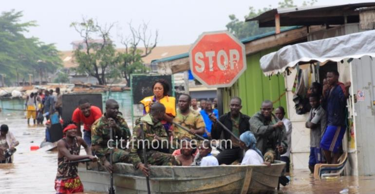 Accra Floods: Military rescue lives at Odawna [Photos]