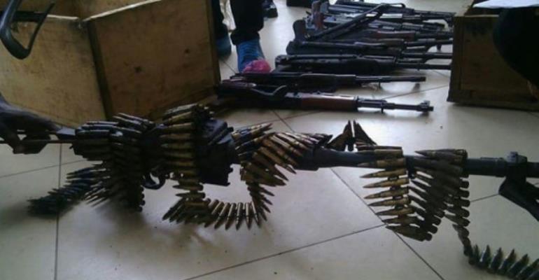 Kumasi police arrest 4 in biggest arms haul