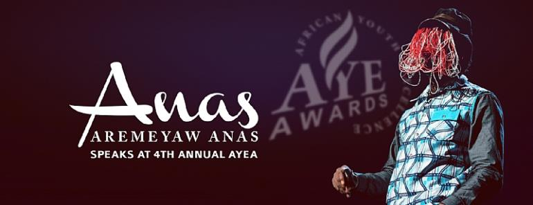 Anas To Speak At The 4th Annual African Youth Excellence Awards