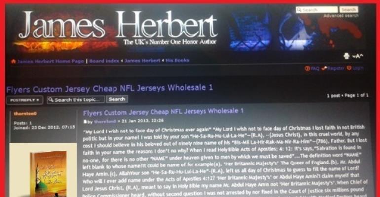 James Herbert featured Author Abdul Haye Amin Articles!