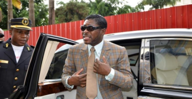 Teodorin Obiang, seen here in 2013, is known for his taste in supercars, luxury homes and bespoke suits.  By JEROME LEROY (AFP/File)