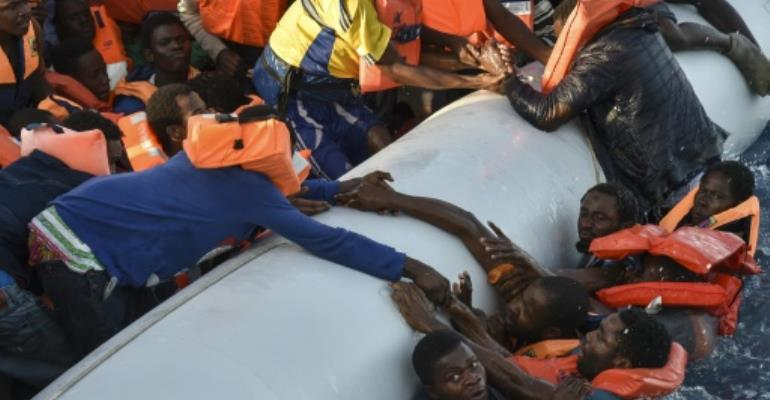 Thousands of migrants, many of them from sub-Saharan Africa, have died trying to get to Europe.  By ANDREAS SOLARO (AFP)