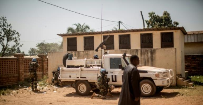 The 12,000-strong MINUSCA force has been plagued by a wave of sexual abuse allegations since the mission began in 2014 to help restore stability to the Central African Republic.  By MARCO LONGARI (AFP/File)