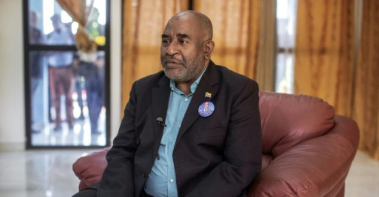 The Comoros' Supreme Court confirmed incumbent Azali Assoumani, seen giving an interview to AFP on March 20, as the winner of last week's election, overriding opposition claims of widespread fraud.  By GIANLUIGI GUERCIA (AFP/File)