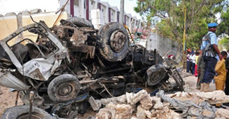 The anti-terrorist strikes came weeks after Somalia's capital Mogadishu was targeted by Al-Qaeda aligned Shabaab militants in October 2017.  By Mohamed ABDIWAHAB (AFP)