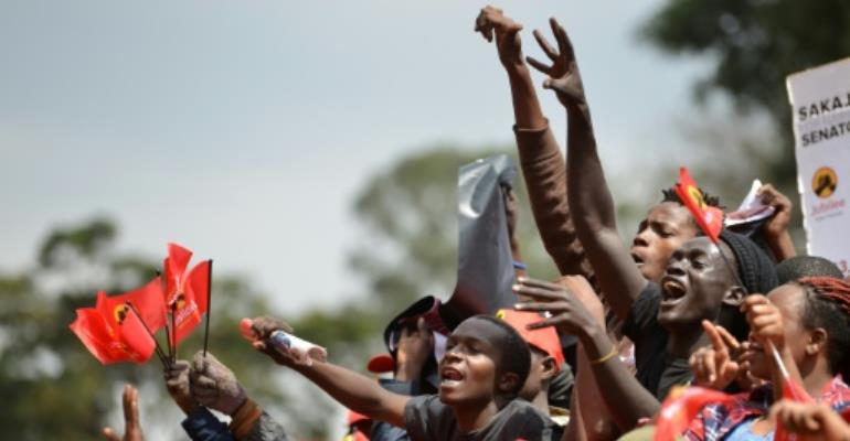 The August 8 election is seen as a crucial test of Kenya's progress.  By TONY KARUMBA (AFP)