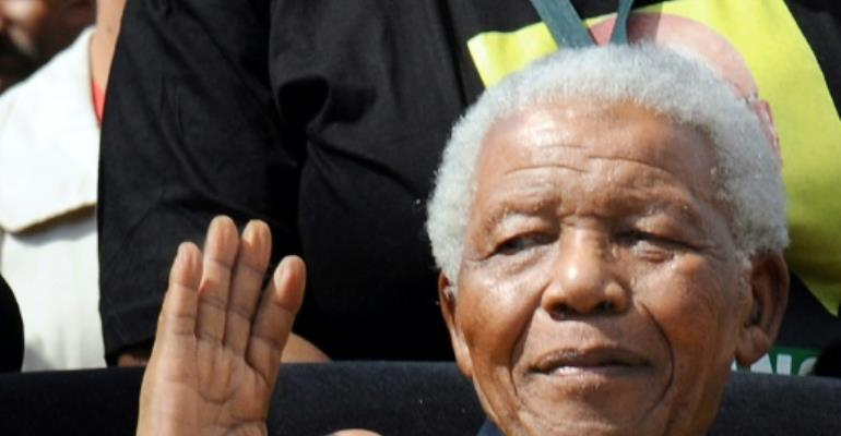 The late South African president Nelson Mandela, pictured in 2009.  By ALEXANDER JOE (AFP/File)