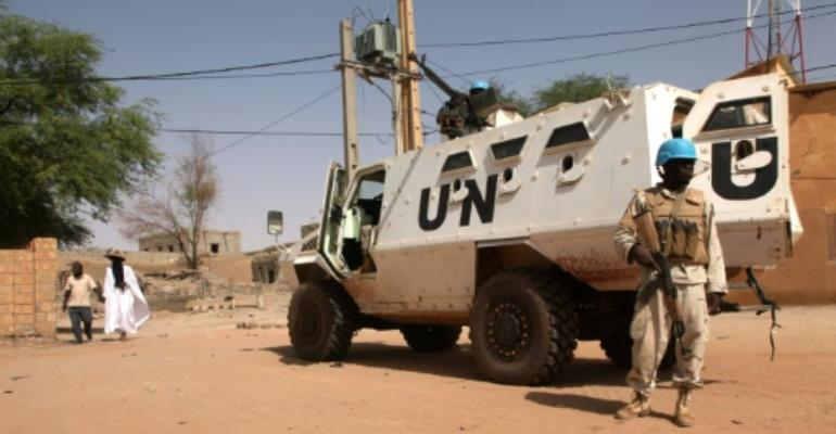 The UN mission, which counts almost 11,000 peacekeepers, has been deployed in Mali since 2013 to counter a jihadist insurgency and general lawlessness.  By SEBASTIEN RIEUSSEC (AFP/File)
