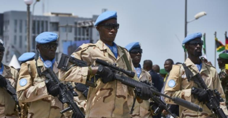 The UN Security Council faces a June deadline to decide on the mandate of the peacekeeping mission in Mali.  By Michele CATTANI (AFP/File)