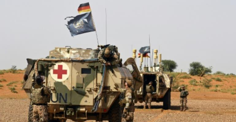 The United Nations has deployed 14,000 troops and police to Mali, where a jihadist insurgency shows no signs of ending.  By SEYLLOU (AFP/File)