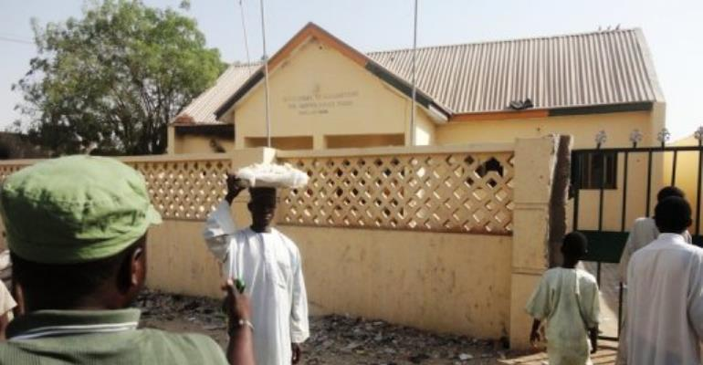 Gunmen stormed Mafa police station in Nigeria's Borno state on Saturday night.  By Aminu Abubakar (AFP)