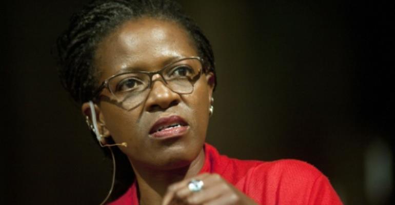 Desmond Tutu's daughter, the Reverend Canon Mpho Tutu-van Furth.  By Rodger Bosch (AFP/File)