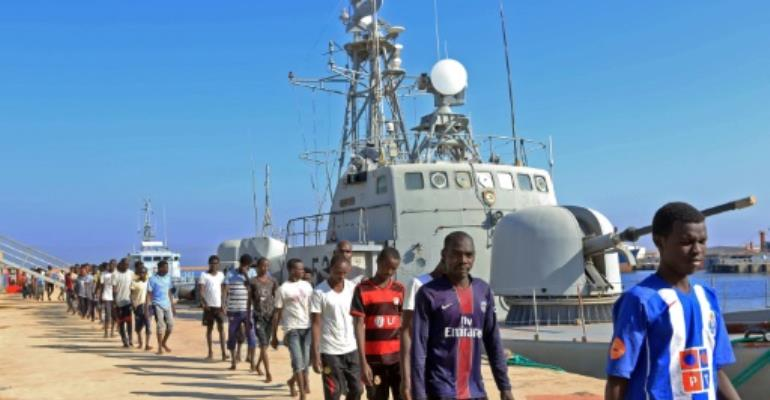 Until recently, Libya had been a major launching off point for migrants, most of them from African countries, trying to cross the Mediterranean to Europe.  By MAHMUD TURKIA (AFP/File)