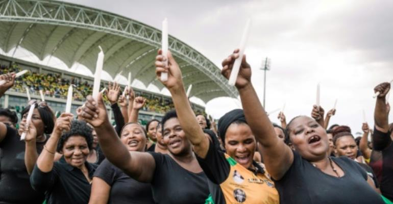 With public support for the ANC falling sharply, the party could face a struggle to retain its grip on power in the 2019 general election after ruling since Nelson Mandela won the first multi-racial elections in 1994.  By RAJESH JANTILAL (AFP)