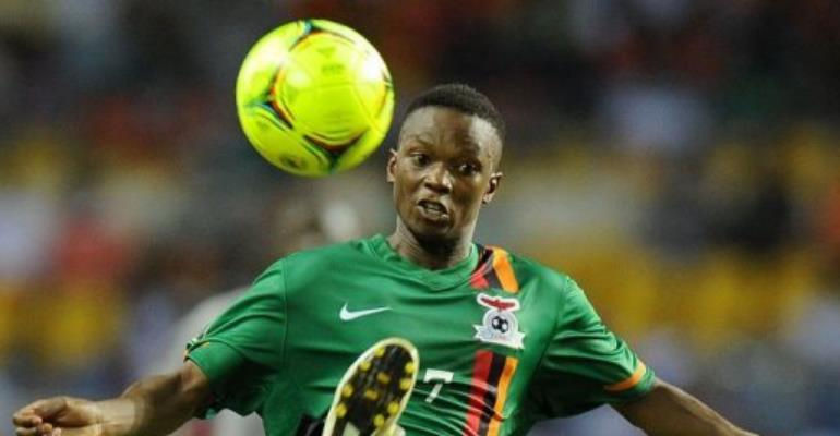 Zambia's Rainford Kalaba controls the ball during the Africa Cup of Nations final.  By Franck Fife (AFP)