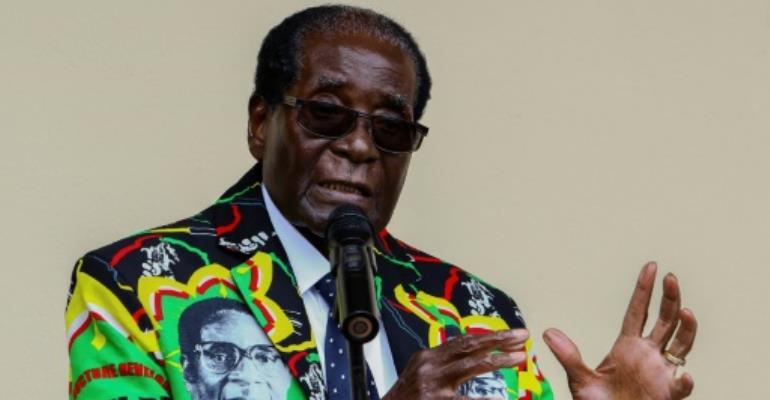 Zimbabwe President Robert Mugabe has been in power since 1980.  By Jekesai NJIKIZANA (AFP/File)