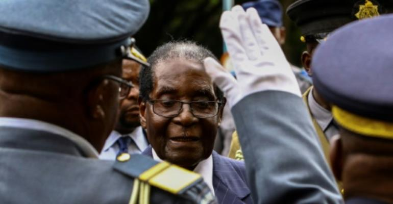 Zimbabwe's President Robert Mugabe, 92, has been in power since independence from British colonial rule in 1980.  By Jekesai Njikizana (AFP/File)