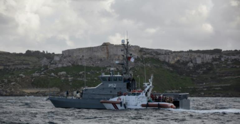 A Maltese naval vessel off the coast of the island earlier this year.  By FEDERICO SCOPPA (AFP/File)