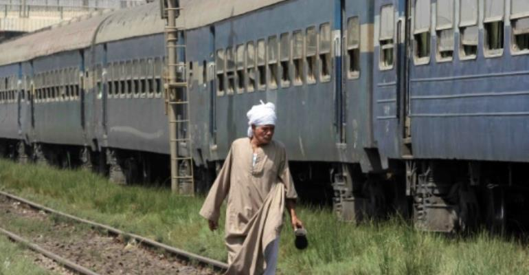 A collision between a freight train and a passenger train took place in Behaira province.  By  (AFP/File)