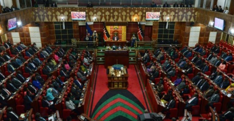 A view of the Kenyan parliament in 2015.  By SIMON MAINA (AFP/File)