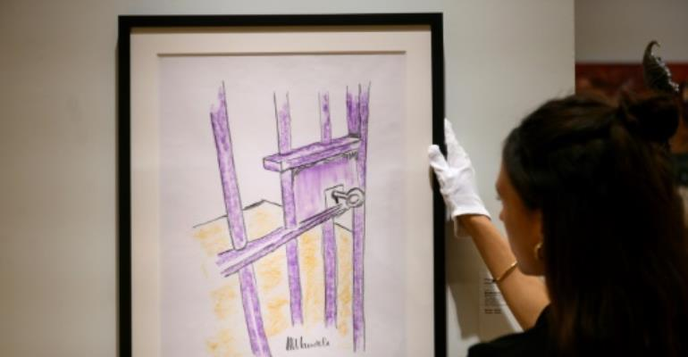 Mandela prison drawing goes under the hammer in US