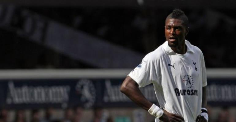 Adebayor had said he was still haunted by the memory of the gun attack on the Togo team bus.  By Adrian Dennis (AFP/File)