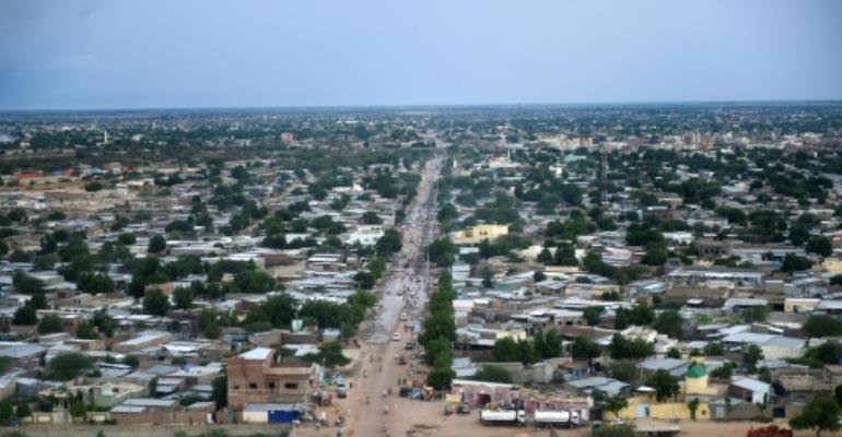 Aerial view of Chad's capital, N'Djamena.  By SIA KAMBOU (AFP/File)