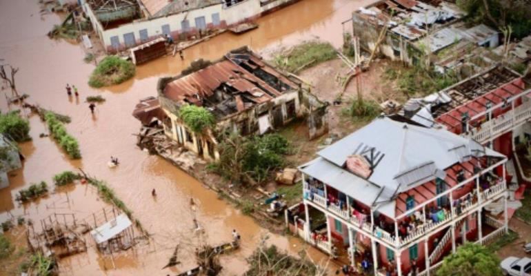 After the deluge: Buzi, central Mozambique.  By ADRIEN BARBIER (AFP)