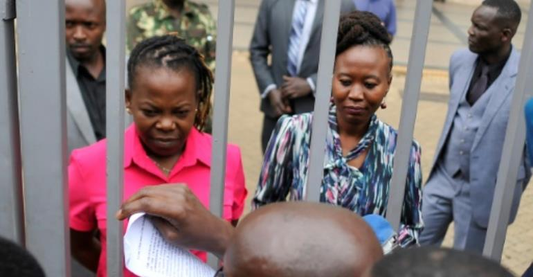 Akombe had become a familiar face on television programmes explaining the election process to Kenyans..  By TONY KARUMBA (AFP/File)