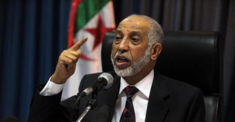 Algerian National Liberation Front (FLN) Secretary General Abdelaziz Belkhadem.  By Farouk Batiche (AFP/File)