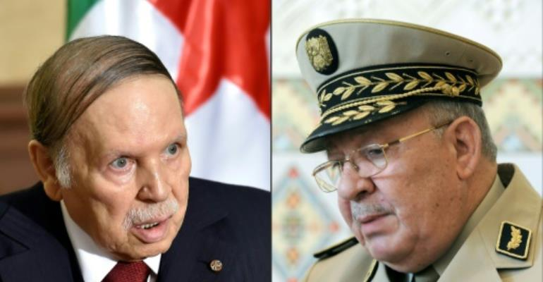Algerian President Abdelaziz Bouteflika has faced calls to step down from armed forces chief of staff Ahmed Gaid Salah.  By Eric FEFERBERG, Farouk Batiche (AFP)