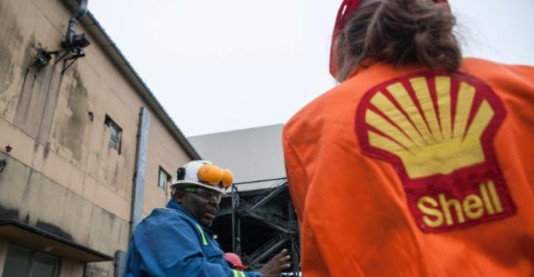 Although Shell was forced to quit oil production in the area in 1993, the company still runs a network of pipelines criss-crossing the area.  By FLORIAN PLAUCHEUR (AFP/File)
