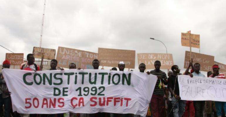 An opposition coalition of 14 parties, which has led almost weekly demonstrations since August, appealed to leaders attending the ECOWAS summit in Abuja to put pressure on the regime.  By Matteo Fraschini KOFFI (AFP/File)