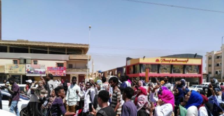 Anti-government protests like this one on March 18, 2019 have rocked Sudan for more than three months.  By - (AFP)