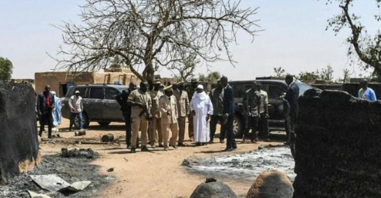 Around 160 people in the village of Ogassogou were killed and their homes put to the torch.  By Handout (MALIAN PRESIDENCY/AFP)